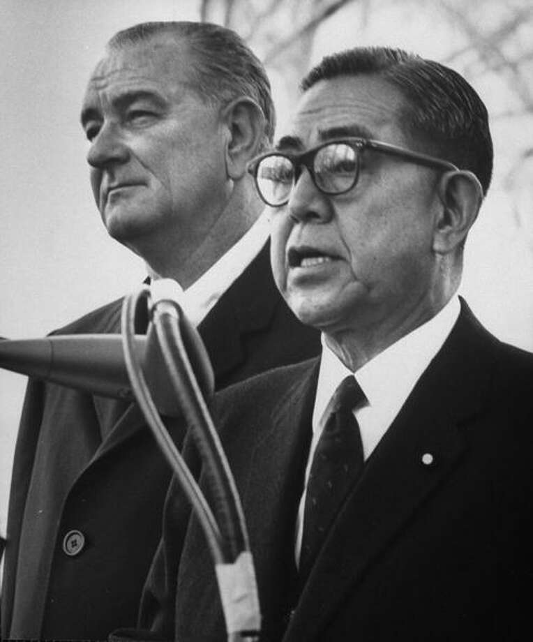 Prime Minister Eisaku Sato of Japan was awarded the Nobel Peace Prize in 1974 for his renunciation of the nuclear option for Japan and his efforts to further regional reconciliation Photo: Francis Miller, Getty / Time Life Pictures