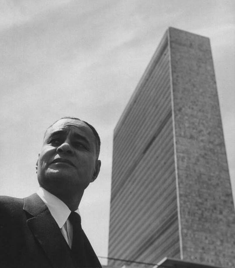 Dr. Ralph Bunche was awarded the Nobel Peace Prize in 1950 for his United Nations work in Palestine. Photo: Robert W. Kelley, Getty / Time Life Pictures