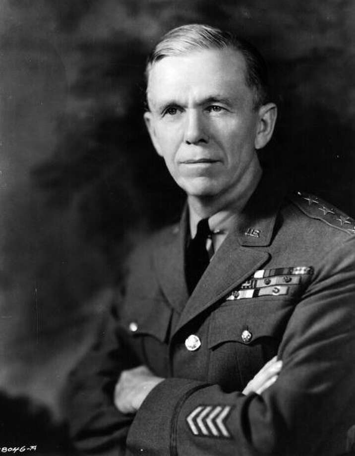 United States Army General George Catlett Marshall was awarded the Nobel Peace Prize in 1953 for his work with the Red Cross. Photo: Keystone, Getty / Hulton Archive