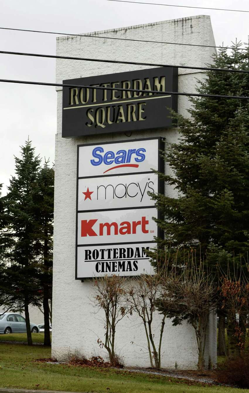 Exterior view of the Rotterdam Square Mall Monday, Dec. 9, 2013, in Rotterdam, N.Y. The mall is to be sold during a two-day online auction run by Rockwood Real Estate Advisors and Auction.com. (Skip Dickstein/Times Union)