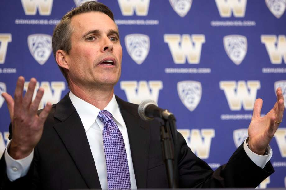 Chris Petersen, newly-named University of Washington football head coach, speaks at a press conference Monday, Dec. 9, 2013, at Husky Stadium in Seattle. Petersen replaces former head coach Steve Sarkisian, who left for USC. (Jordan Stead, seattlepi.com) Photo: JORDAN STEAD, SEATTLEPI.COM