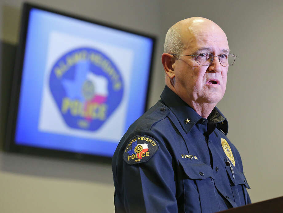 Alamo Heights Police Chief Richard Pruitt answers questions from the media, Monday Dec. 9, 2013, at press conference on the University of the Incarnate Word student shot to death by a campus officer Friday. Photo: Edward A. Ornelas, San Antonio Express-News / © 2013 San Antonio Express-News