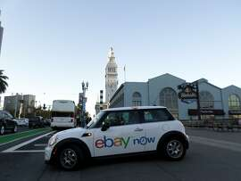 EBay Now is offering users of its app free delivery in about an hour on all orders through 6 p.m. on Christmas Eve and the option to order gift baskets from select Ferry Building shops through New Year's Eve. SAMSUNG CAMERA PICTURES