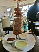 The secret is out: Alison Cook loves onion rings. 60° Mastercrafted serves a tower of them.