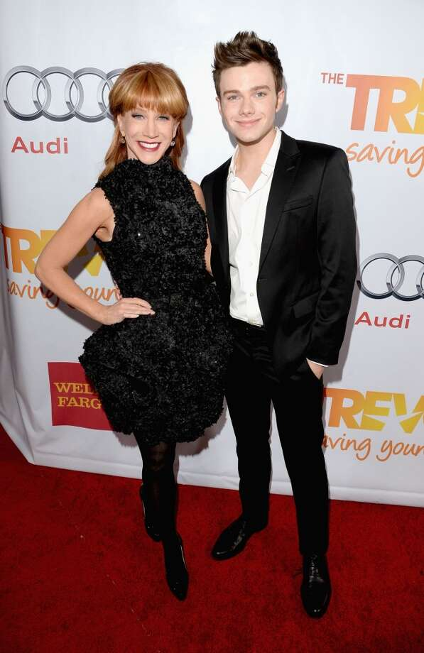 "Comedian Kathy Griffin and actor Chris Colfer attend ""TrevorLIVE LA"" honoring Jane Lynch and Toyota for the Trevor Project at Hollywood Palladium on December 8, 2013 in Hollywood, California.  (Photo by Jason Merritt/Getty Images for Trevor Project) Photo: Jason Merritt, Getty Images For Trevor Project"