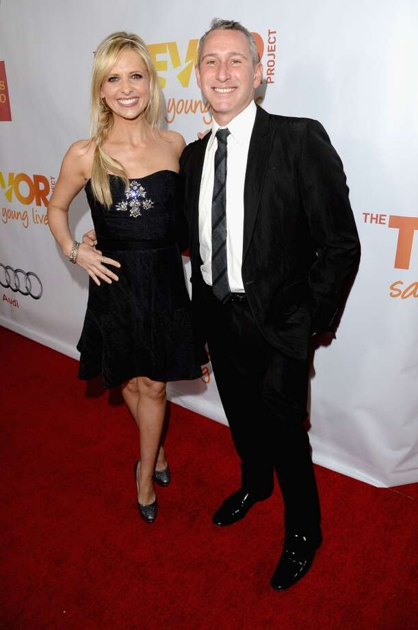 "Actress Sarah Michelle Gellar producer/director Adam Shankman attend ""TrevorLIVE LA"" honoring Jane Lynch and Toyota for the Trevor Project at Hollywood Palladium on December 8, 2013 in Hollywood, California.  (Photo by Jason Merritt/Getty Images for Trevor Project) Photo: Jason Merritt, Getty Images For Trevor Project"