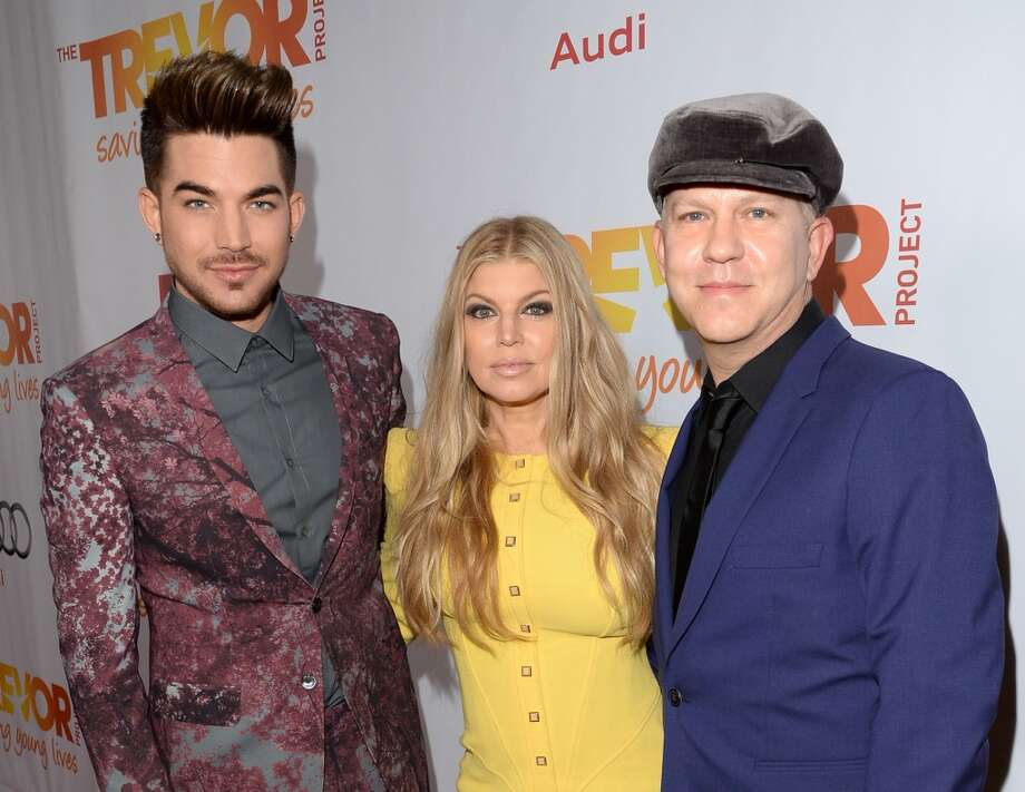 "Musicians Adam Lambert, Fergie and, screenwriter Ryan Murphy attend ""TrevorLIVE LA"" honoring Jane Lynch and Toyota for the Trevor Project at Hollywood Palladium on December 8, 2013 in Hollywood, California.  (Photo by Jason Merritt/Getty Images for Trevor Project) Photo: Jason Merritt, Getty Images For Trevor Project"