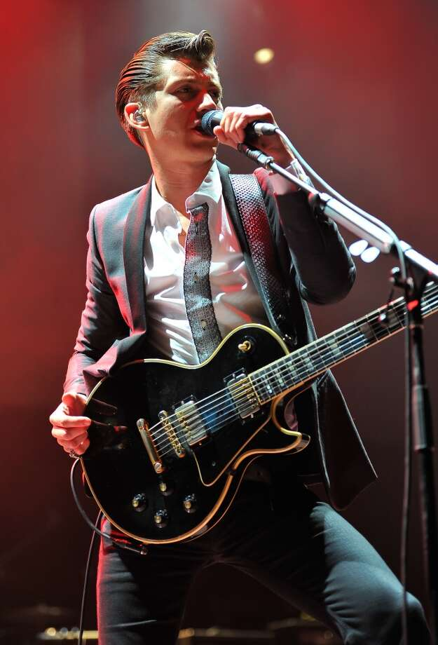 "Alex Turner of Arctic Monkeys performs at Live 105 Radio ""Not So Silent Night"" on Day 1 at ORACLE Arena on December 6, 2013 in Oakland, California. (Photo by Steve Jennings/Getty Images for CBS Radio, Inc.) Photo: Steve Jennings"