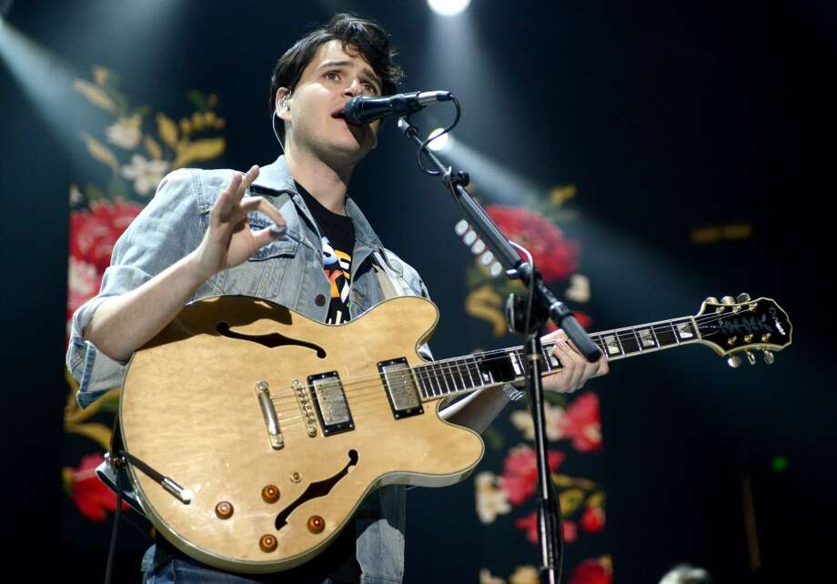Ezra Koenig of Vampire Weekend performs as part of Live 105's Not So Silent Night at Oracle Arena on December 6, 2013 in Oakland, California. (Photo by Tim Mosenfelder/Getty Images) Photo: Tim Mosenfelder, Getty Images