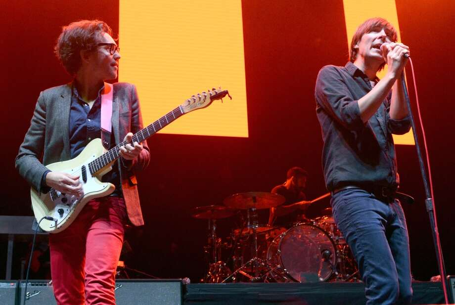 Laurent Brancowitz (L) and Thomas Mars of Phoenix perform as part of Live 105's Not So Silent Night at Oracle Arena on December 7, 2013 in Oakland, California. (Photo by Tim Mosenfelder/Getty Images) Photo: Tim Mosenfelder, Getty Images