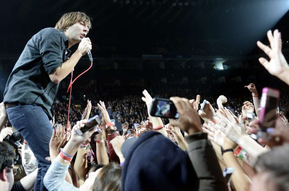Thomas Mars of Phoenix performs as part of Live 105's Not So Silent Night at Oracle Arena on December 7, 2013 in Oakland, California. (Photo by Tim Mosenfelder/Getty Images) Photo: Tim Mosenfelder, Getty Images