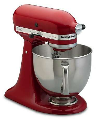KITCHEN: You know it's as much fun to watch a candy-apple red KitchenAid Pro 6500 bowl-lift stand mixer do its endless rotations through ingredients in the 6-quart glass bowl as it is to use one, $549.95, www.williams-sonoma.com. Photo: Williams-Sonoma