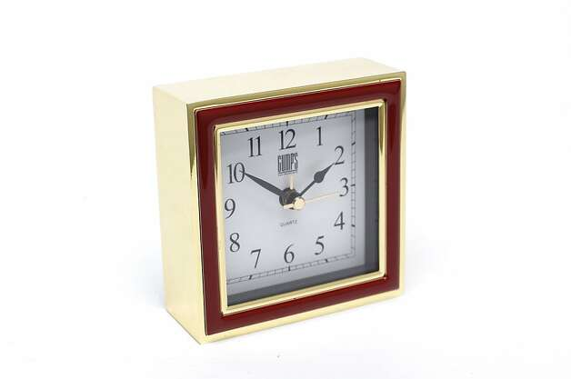 CLOCKS: Timelessly elegant, an alarm clock that is as unobtrusive as it is loud, $98, www.gumps.com, AA-battery operated. Photo: Russell Yip, The Chronicle