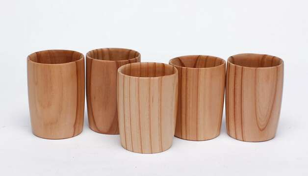 SAKE: Solid cedar sake cups, $11 each, www.unmamimart.com. Photo: Russell Yip, The Chronicle