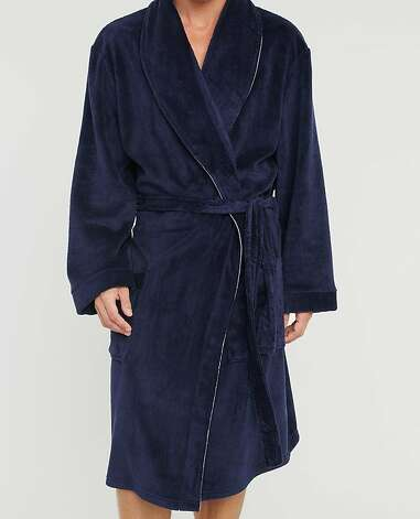 HIS & HERS: For him, a luxuriously soft, classic robe, $68, www.figleaves.com. Photo: Figleaves