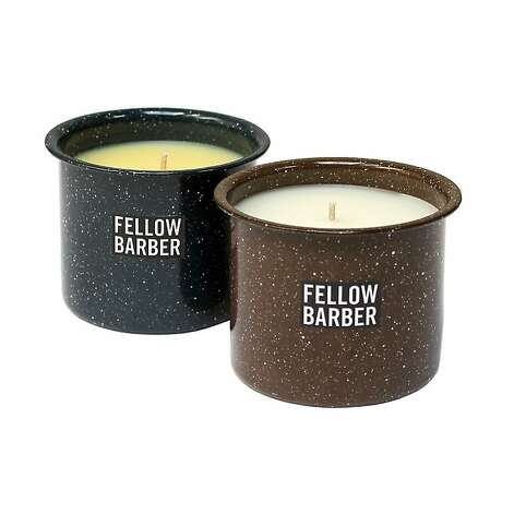 MEN'S: All-American made Fellow Barber candles, $60 each, at www.fellowbarber.com, to make that hotel room smell more like home. Photo: Fellow Barber, Cartolina