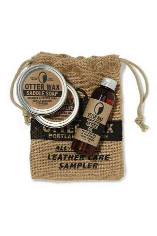 MEN'S: The Otter Wax sampler includes a 2-ounce tin of saddle soap, one 2-ounce tin of leather salve and a 5-ounce bottle of leather oil, $30, all  www.fellowbarber.com. Photo: Fellow Barber