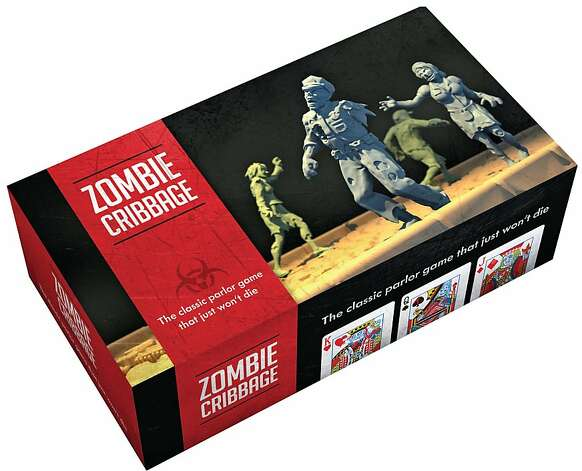 HIS & HERS: Who can resist Zombie Cribbage: The Classic Parlor Game that Just Won't Die by Forrest-Pruzan Creative ($19.95, www.chroniclebooks.com)? Photo: Chronicle Books