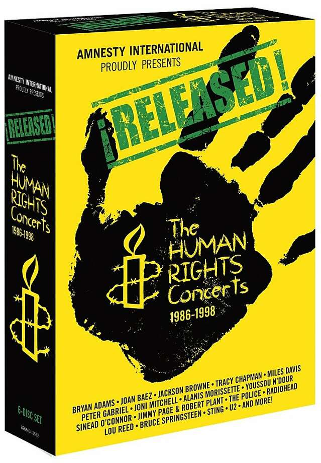 Released: The Human Rights Concerts ($59.98; Shout Factory) Photo: Amnesty International