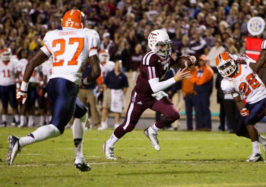 Texas A&M 57, UTEP 7 Nov. 2, 2013  Johnny Football put six TDs on the scoreboard against the Miners, four passing and two rushing. Photo: Cody Duty, Houston Chronicle