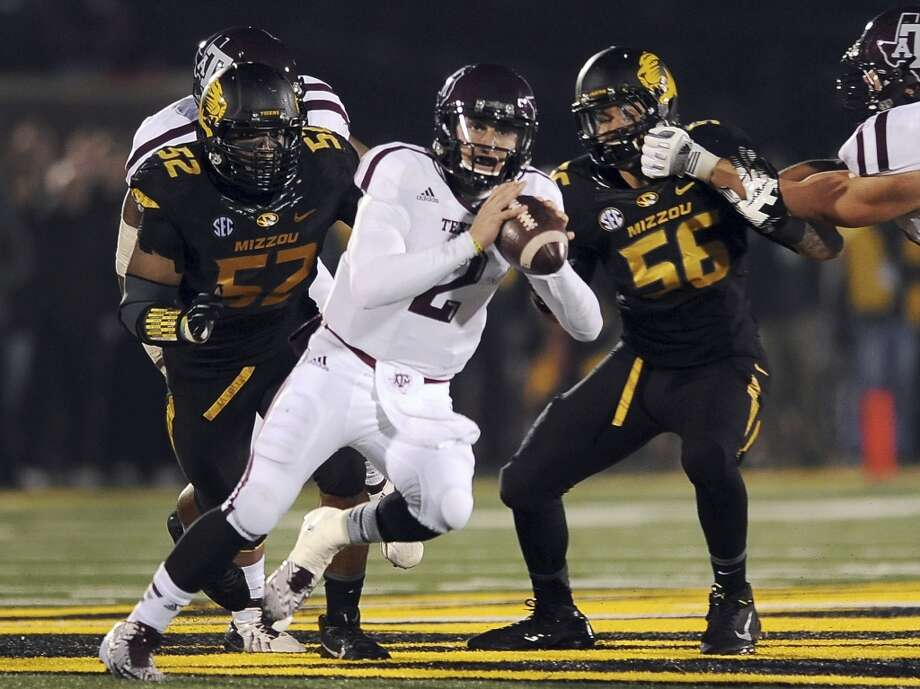 Missouri 28, Texas A&M 21 Nov. 30, 2013Manziel was held under 200 yards passing (195 and 1 TD) in the season-ending loss. Photo: L.G. Patterson, Associated Press