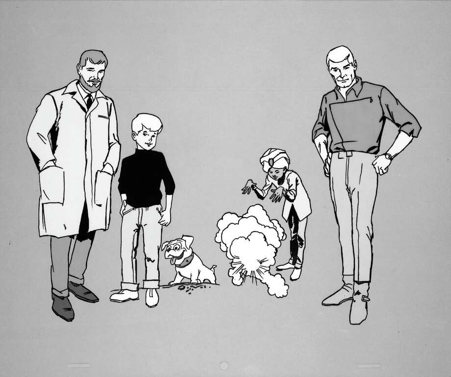 """Jonny Quest"" characters (from left): Dr. Benjamin Quest, Jonny Quest, Bandit, Hadji and Race Bannon. Photo: ABC Photo Archives, Getty Images / 2010 American Broadcasting Companies, Inc."