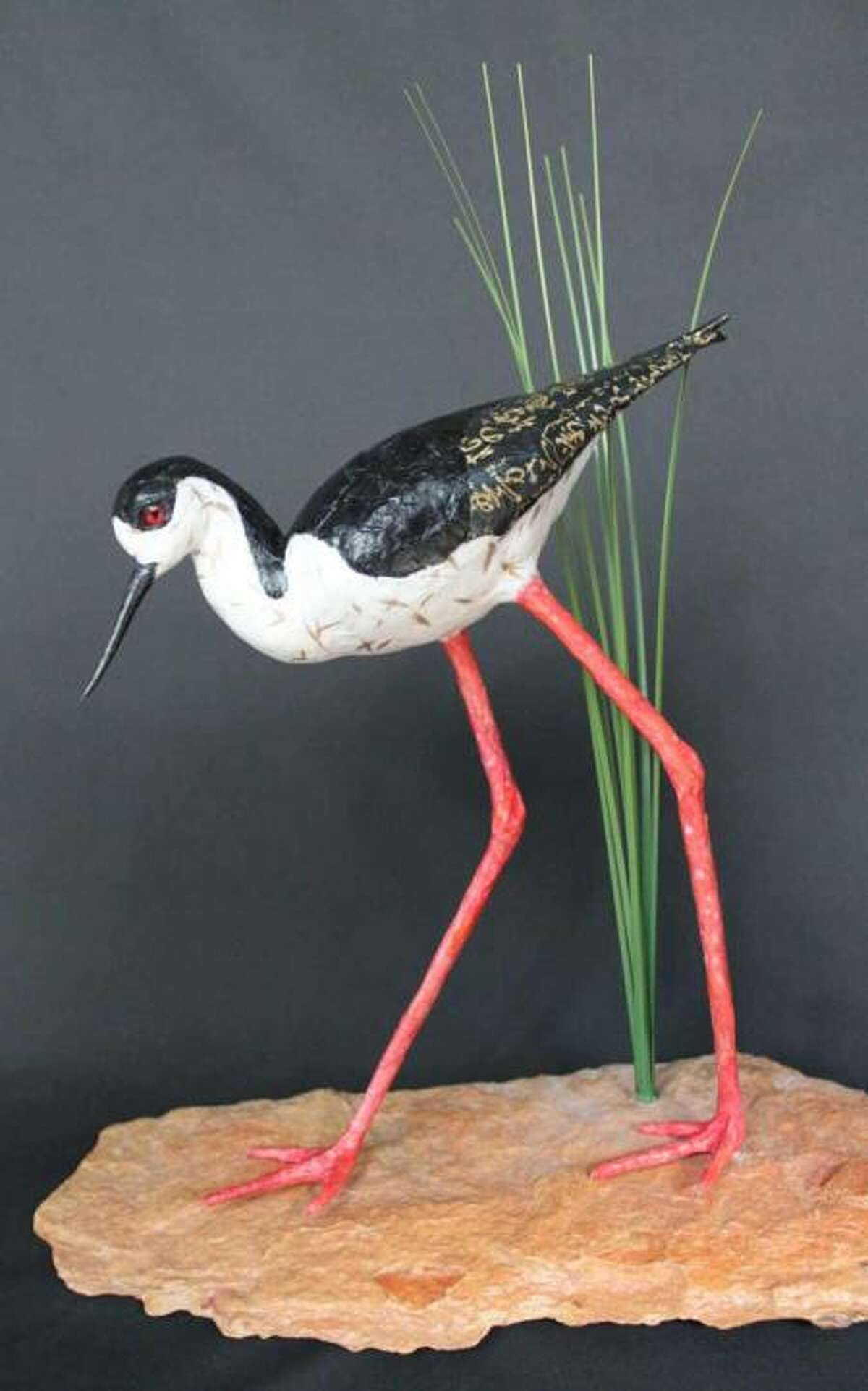 An exhibit at Archway Gallery features bird-inspired art by Christie Coker and Andrea Wilkinson.