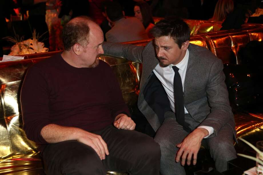 "Louis C.K. (L) and Jeremy Renner attend the after party for Grey Goose Vodka and Vanity Fair present in part the world premiere of Columbia Pictures And Annapurna Pictures ""American Hustle"" at Cipriani  on December 8, 2013 in New York City.  (Photo by Monica Schipper/Getty Images for Grey Goose) Photo: Monica Schipper, Getty Images For Grey Goose"
