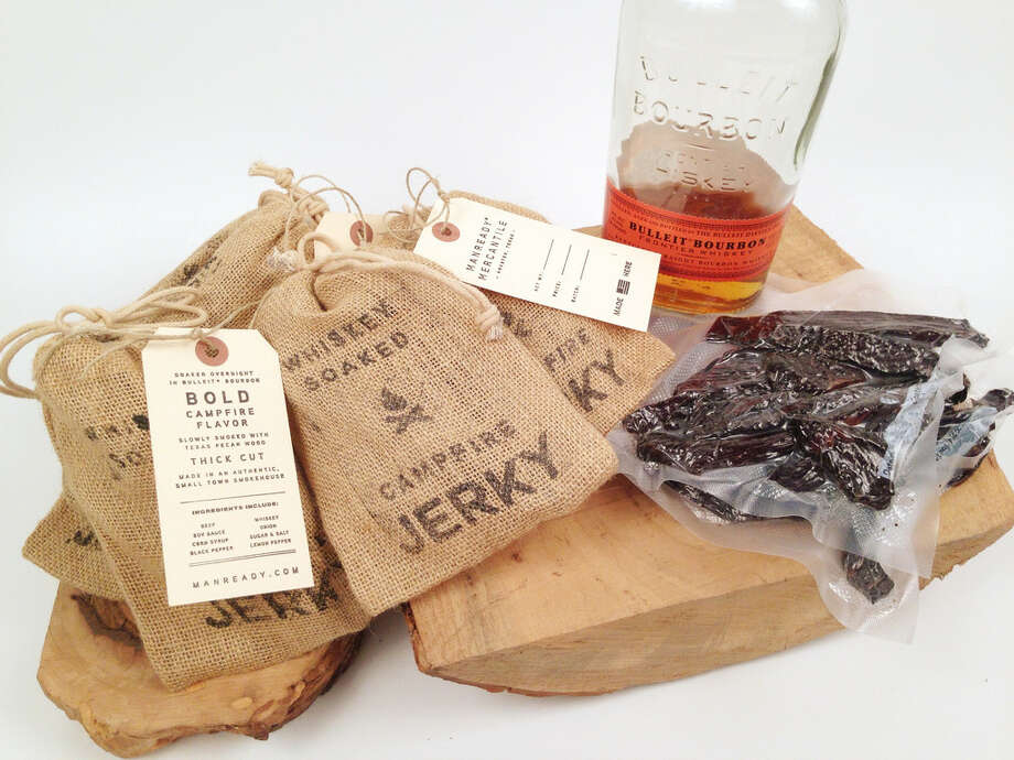 """Whiskey-soaked campfire jerky, $16.  Manready Mercantile is a Houston company started by Travis Weaver, a small town Texan determined to create and sell quality American-made goods with character. Manready focuses on all-natural ingredients with items made in small batches right in Houston.  Manready.com is a treasure trove of manly goodness like sweet almond oil hand salve, Granddad's Leather Treatment and beard treatments for rustic facial hair aficionados.  Manready also joined the Bluelace Project, a campaign that brings awareness to the need for more American manufacturing.  Manready's motto is """"Work hard, live well,"""" and we can more than get behind that. Buy it: manready.com Photo: Provided By The Manufacturer, Courtesy"""