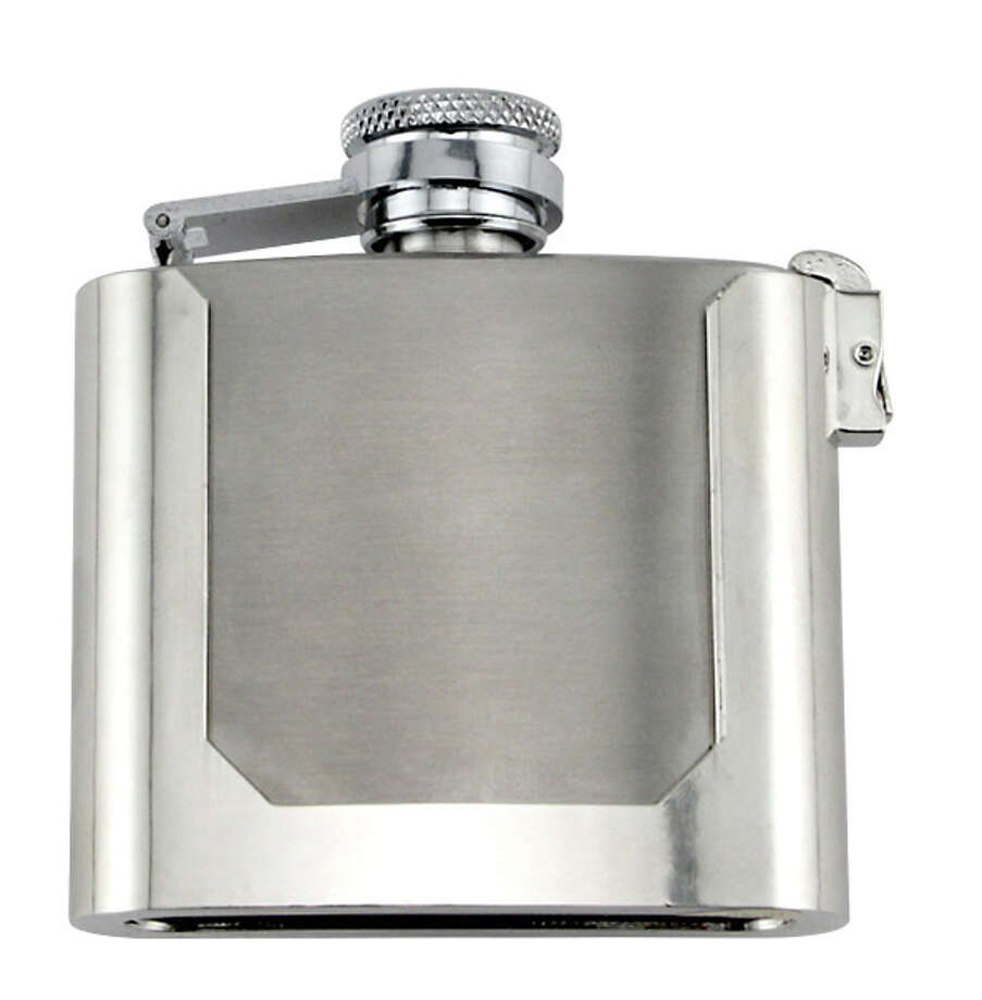 Belt buckle flask, $12.99. Other than keeping your pants from falling down, what has your belt done for you lately? Put your waistline to work with the belt buckle flask, a stainless steel game-changer that will keep two ounces of sweet nectar ever at the ready.  It's kinda cool looking even without the booze-filled center, but a belt buckle flask might not be appropriate work wear if you're, say, an elementary school teacher or a heart surgeon. Accessorize responsibly.  Buy it: kegworks.com Photo: Provided By The Manufacturer, Courtesy