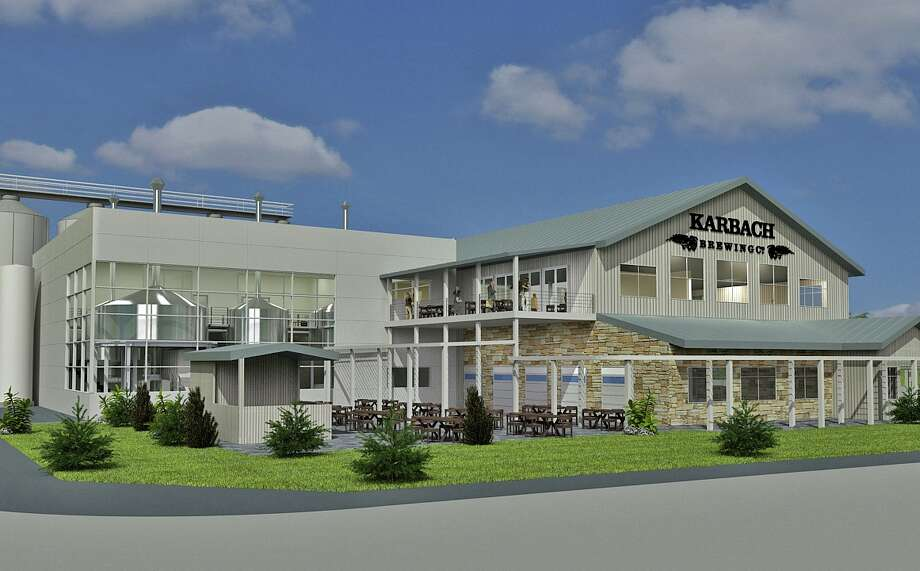 Preliminary rendering of a new brewery to be built in 2014 for Karbach Brewing Co. The brewery would face Dacoma. Photo: Karbach Brewing Co.