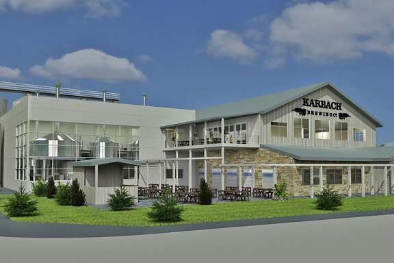 Preliminary rendering of a new brewery to be built in 2014 for Karbach Brewing Co. The brewery would face Dacoma.