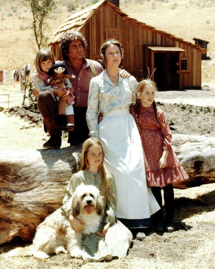 "Actors Lindsay Greenbush, Michael Landon, Karen Grassle, Melissa Gilbert and Melissa Sue Anderson, all in period costume, pose for a cast portrait for ""Little House on the Prairie,"" circa 1974. The drama was adapted from the novels by Laura Ingalls Wilder. Photo: Silver Screen Collection, Getty Images / 2011 Silver Screen Collection"