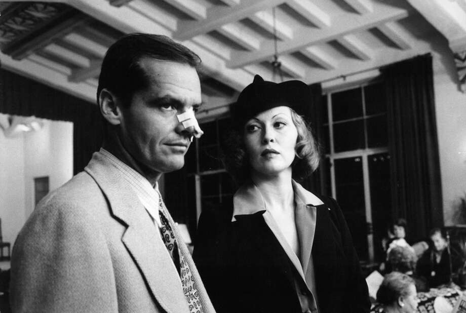 "Jack Nicholson and Faye Dunaway standing in restaurant in a scene from the film ""Chinatown,"" 1974. Photo: Archive Photos, Getty Images / 2011 Getty Images"