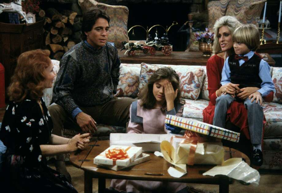 """Actors Katherine Helmond (from left), Tony Danza, Alyssa Milano, Judith Light and Danny Pintauro are seen in a scene from the Season One episode """"Samantha's Growing Up"""" of the sitcom """"Who's the Boss?,"""" which aired Jan. 8, 1985. Photo: ABC Photo Archives, Getty Images / 2012 American Broadcasting Companies, Inc."""