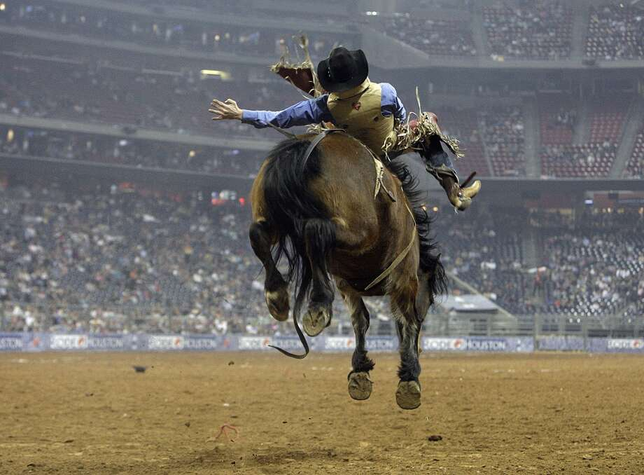 10. Houston Livestock Show and Rodeo.Yeehaw! This annual springtime event, begun in 1982,  had the 10th most Facebook check-ins of U.S. venues (other than transportation hubs) last year at Reliant Stadium, where it also set record paid attendance of 1,308,288. Photo: James Nielsen, Houston Chronicle