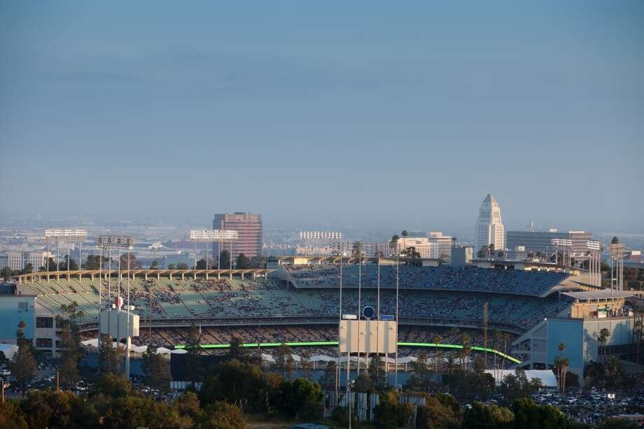 4. Dodger Stadium.  Now this one kind of smarts, at least if you're a regular patron of No. 5 among Facebook U.S. check-ins. (We'd tell you what city it's in, but why would you want to go?) Photo: Hal Bergman, Getty Images