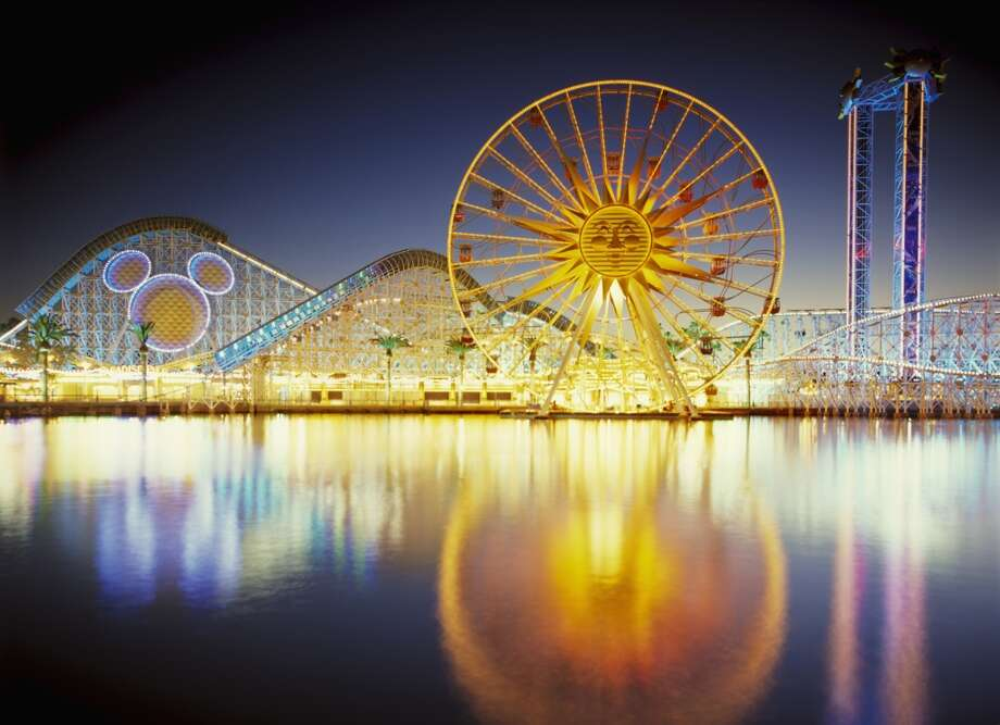 1. Disneyland & Disney California Adventure. Yep, they're going to Disneyland -- Walt's original theme park in Anaheim gathered the most check-ins of U.S. venues (not counting the airports that your Facebook friends might have used to fly there). Photo: Sean Arbabi, Getty Images/Aurora Creative