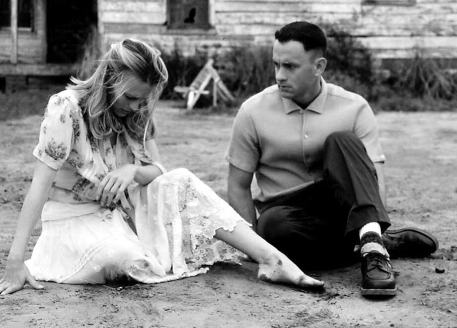 "Robin Wright Penn and Tom Hanks in a scene from ""Forrest Gump."" Photo: Getty Images"