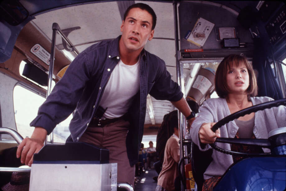 "Keanu Reeves (left) and Sandra Bullock in a scene from ""Speed."" Photo: RICHARD FOREMAN, Getty Images / 20TH CENTURY FOX"