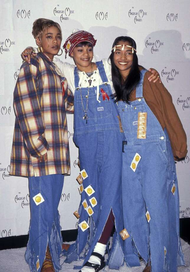 "T-Boz, Lisa ""Left Eye"" Lopes and Chili of TLC are seen at the 21st Annual American Music Awards on Feb. 7, 1994. Photo: Jim Smeal, Getty Images / Ron Galella Collection"