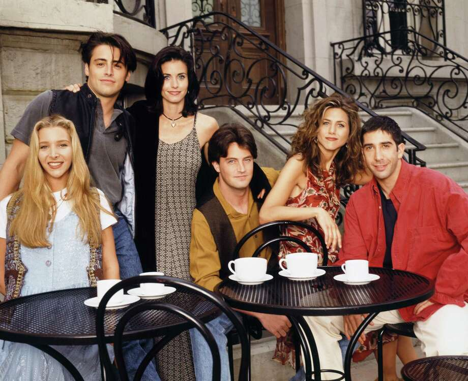 "The cast of ""Friends,"" from left: Lisa Kudrow as Phoebe Buffay, Matt LeBlanc as Joey Tribbiani, Courteney Cox as Monica Geller, Matthew Perry as Chandler Bing, Jennifer Aniston as Rachel Green and David Schwimmer as Ross Geller. Photo: NBC, Getty Images / © NBC Universal, Inc."