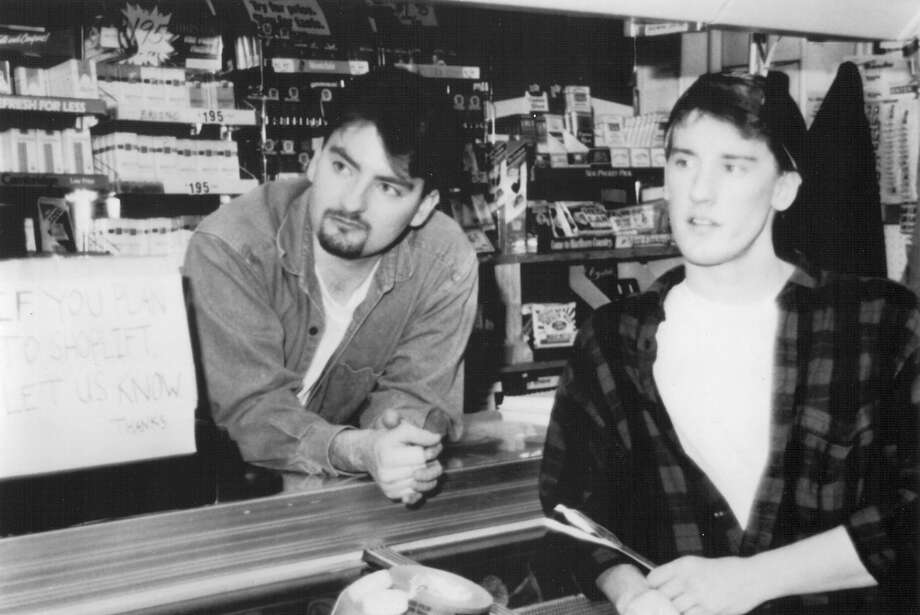 "Brian O'Halloran as Dante Hicks and Jeff Anderson as Randal Graves in Kevin Smith's cult classic ""Clerks,"" 1994. Photo: Miramax"