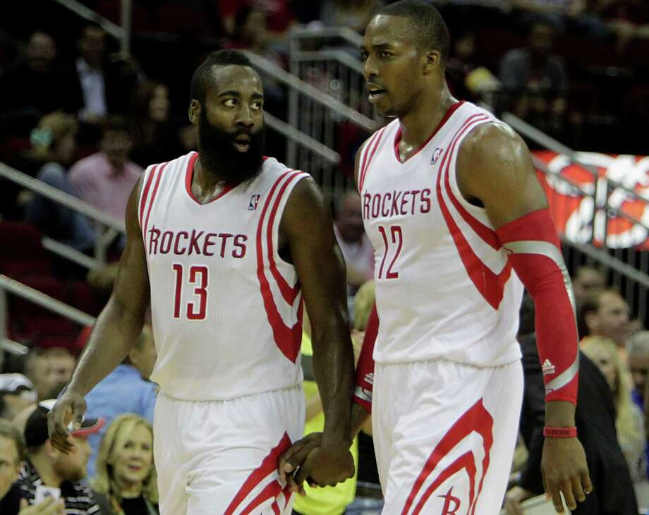 James Harden and the rest of the Rockets likely will not see any more scowls from Dwight Howard in the next couple days. A busy schedule to start the season has slowed up a bit, yielding the Rockets' first three-day break all year. Photo: James Nielsen, Staff / © 2013  Houston Chronicle