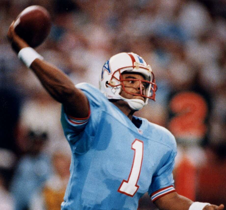 To add on to the 1993 season's controversy, quarterback Warren Moon was benched in favor of Cody Carlson. Moon finished the season with 3,485 passing yards, 21 touchdowns and 21 interceptions. He was named to the Pro Bowl in this season. Photo: File Photo, Houston Chronicle