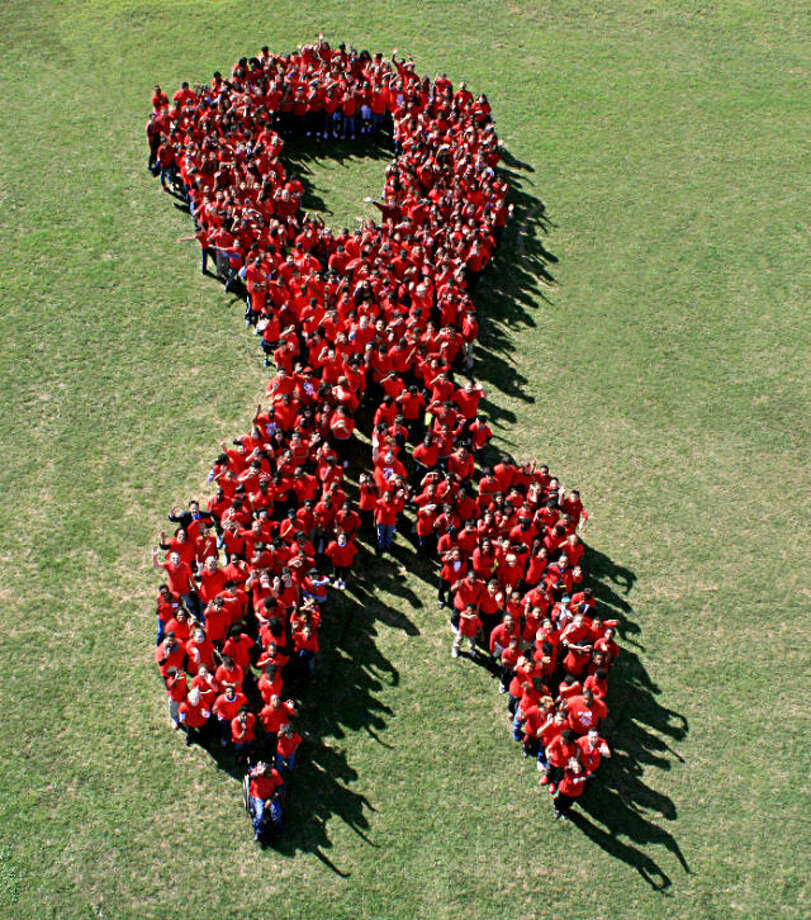 RibbonThe red ribbon has become the symbol for HIV/AIDS awareness. Photo: Spring Independent School District Photo