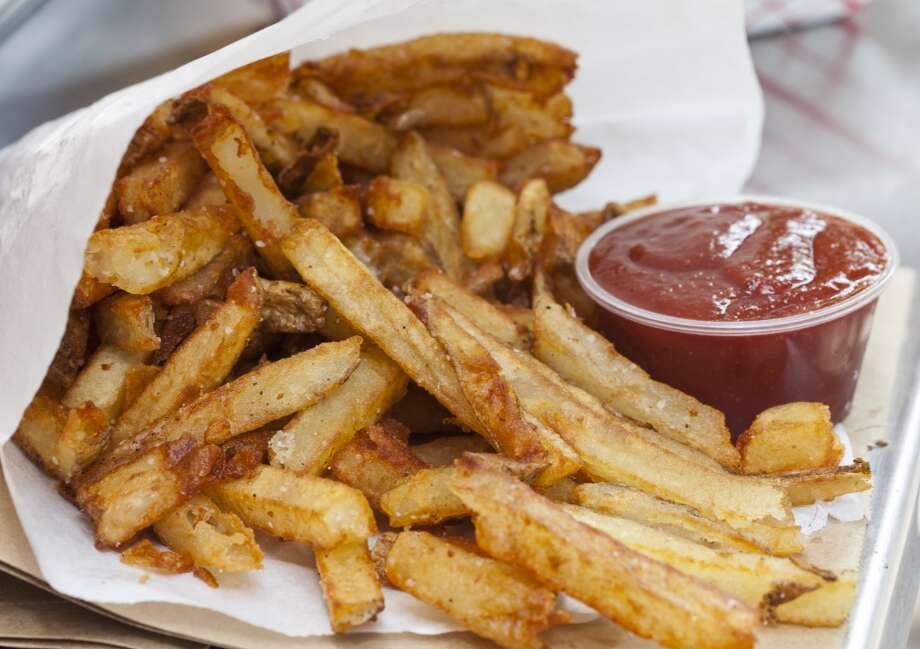 Hand cut fries with homemade ketchup at Bernie's. (Craig H. Hartley/For the Chronicle) Photo: Craig Hartley, For The Chronicle