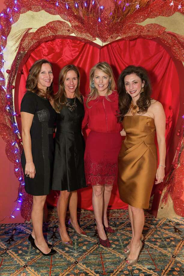 Jessica Kaludis, Stephanie Plexico, Kate Chung and Maryam Muduroglu at the Jingle & Mingle Designer Wreath Auction on December 5, 2013. Photo: Drew Altizer Photography/SFWIRE, Drew Altizer Photography / ©2013 by Drew Altizer, all rights reserved