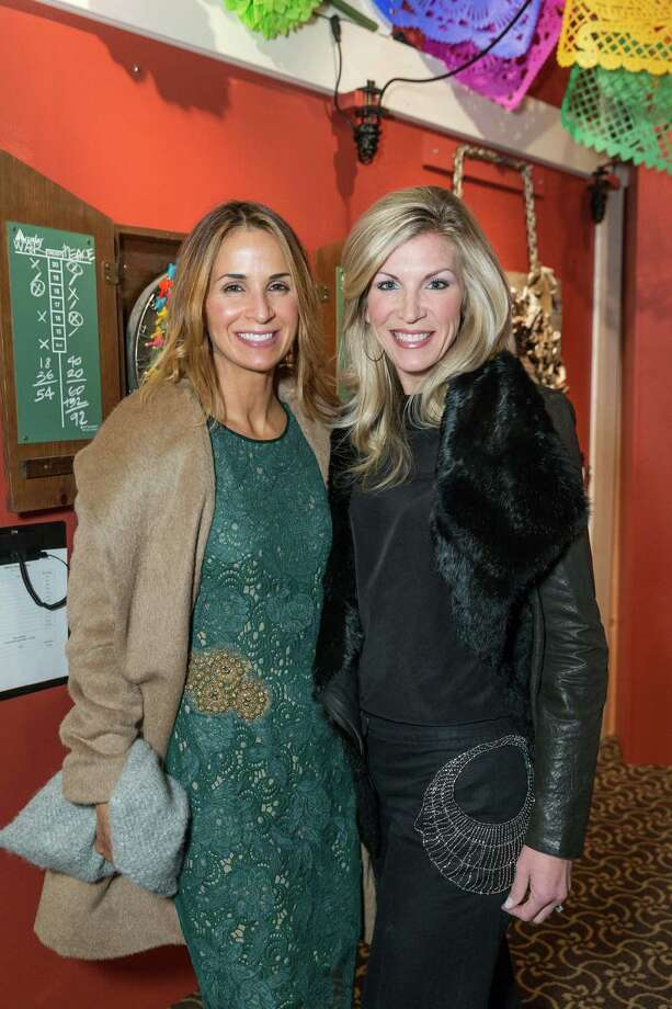Holly Couden and Shonaree Michael at the Jingle & Mingle Designer Wreath Auction on December 5, 2013. Photo: Drew Altizer Photography/SFWIRE, Drew Altizer Photography / ©2013 by Drew Altizer, all rights reserved