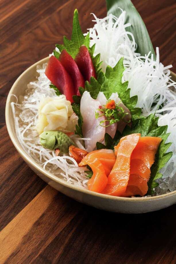 Tuna, flounder and salmon sashimi at Nara. Photo: Julie Soefer / Julie Soefer